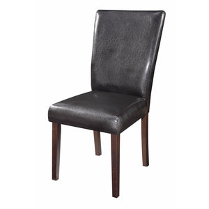 Authentically Designed Side Dining Chair, Black And Brown
