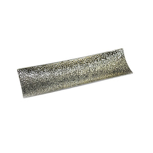 Urbanely Decorative Ceramic Hammered Tray, Silver