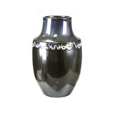 High-end Decorative Ceramic Vase, Silver
