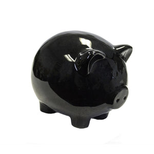 Admirably Striking Ceramic Pig Figurine, Black
