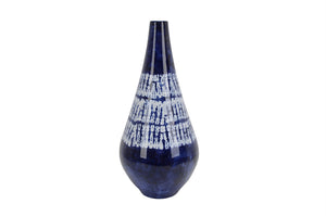 Decorative Ceramic Vase, Blue And White