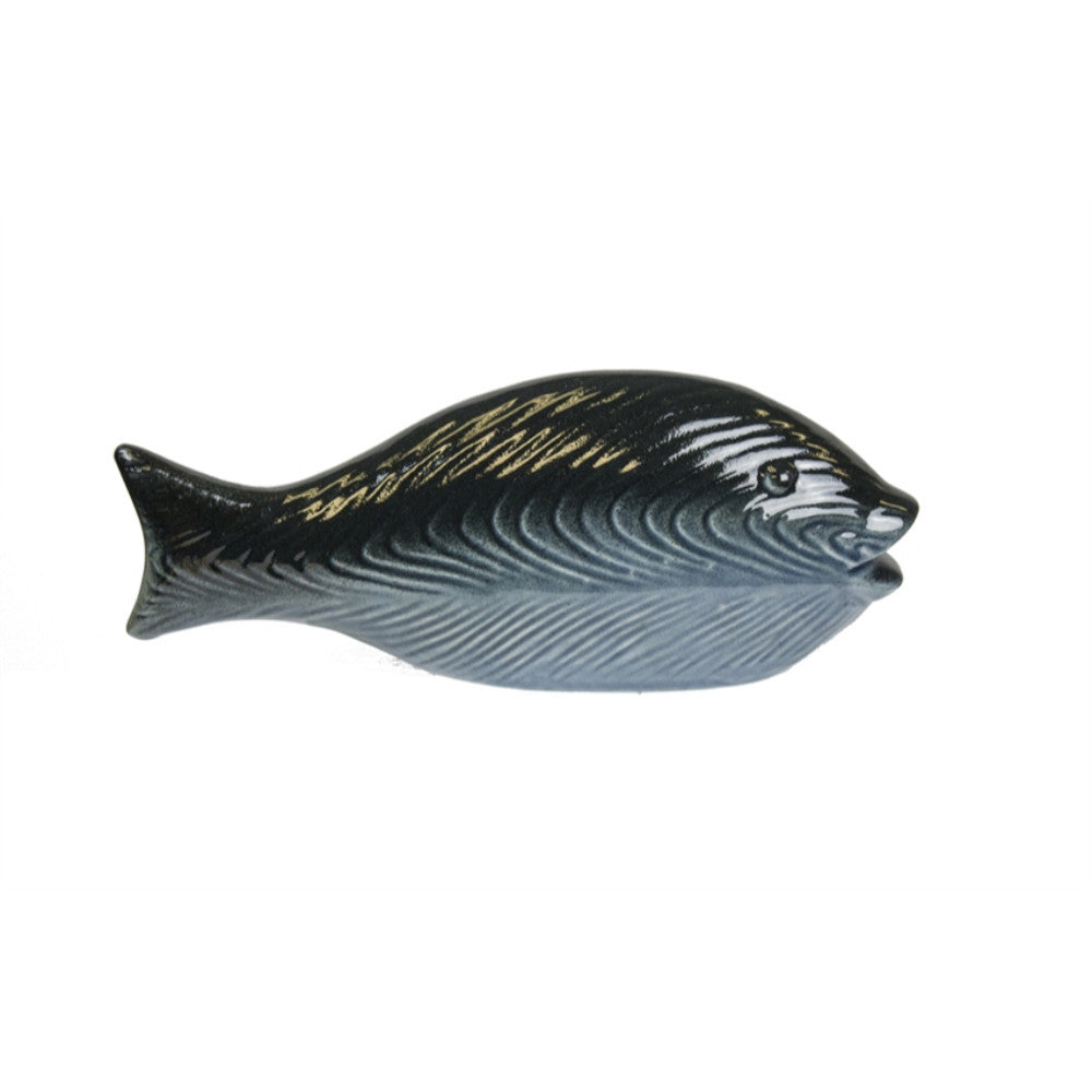 Beautifully Designed Ceramic Fish Figurine, Blue