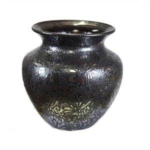 Attractively Charmed Ceramic Vase, Bronze