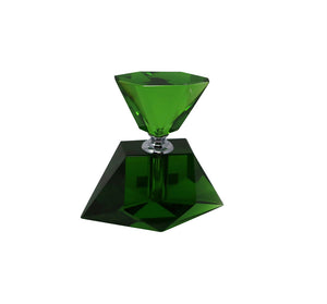 Elegant Green Crystal Perfume Bottle