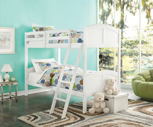 Wooden Twin/Twin Bunk Bed, White