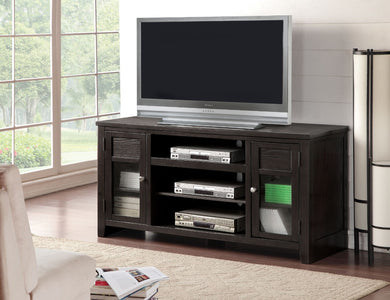 Wooden TV Stand With Drawers, Black
