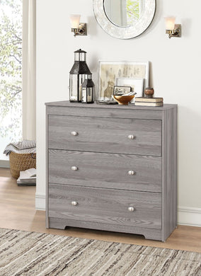 Wooden Chest With 3 Drawers , Gray