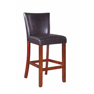 Contemporary Style Counter Height Chair, Gray And Brown