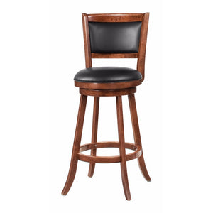 "Contemporary 29"" Bar Stool with Upholstered Seat, Brown"