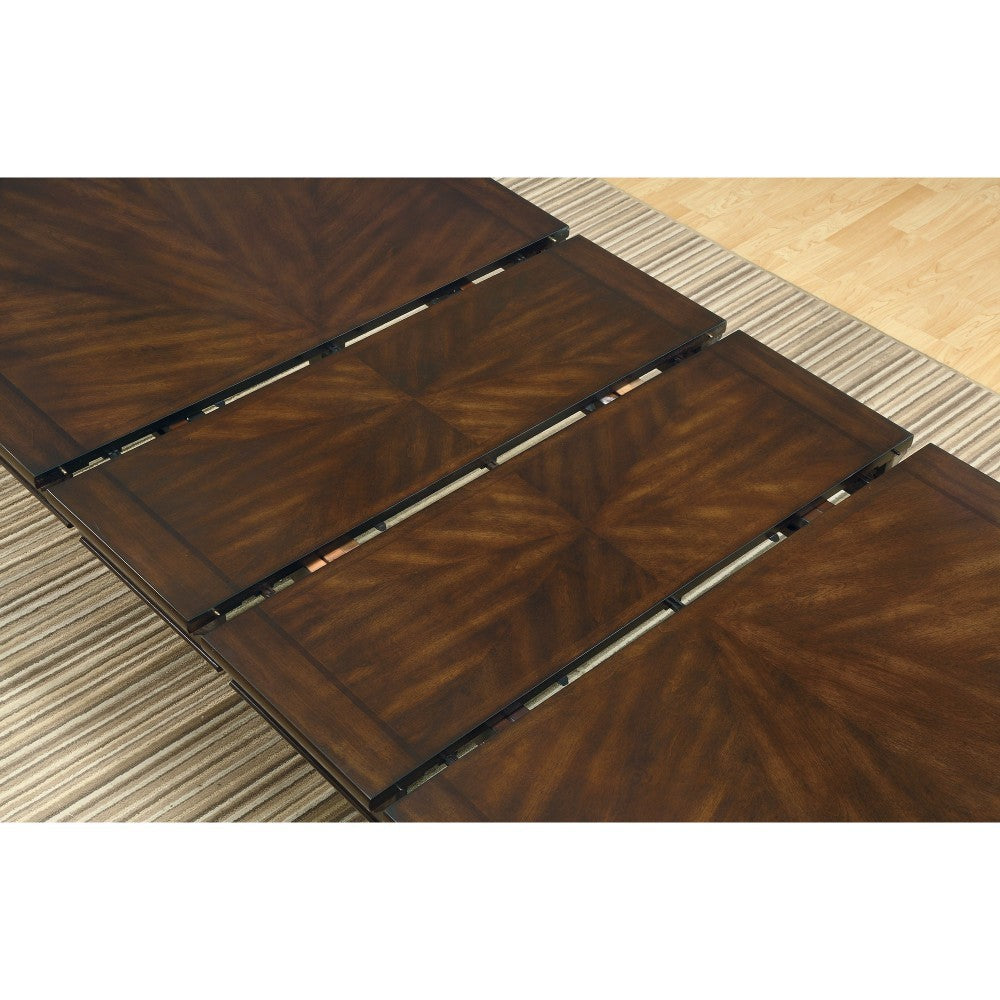 Classy Dining Table with Leaf Extensions, Brown