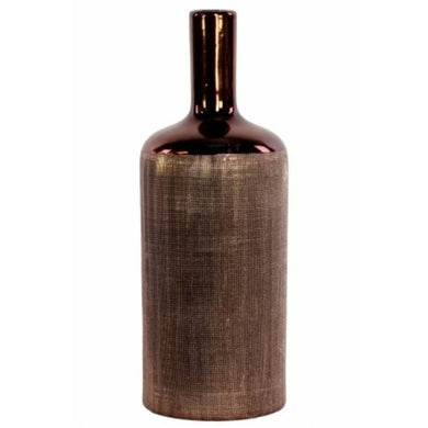 Large Ceramic Bottle Vase With Cylindrical Belly