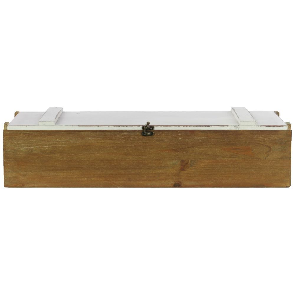 Wooden Lock Box With Divider