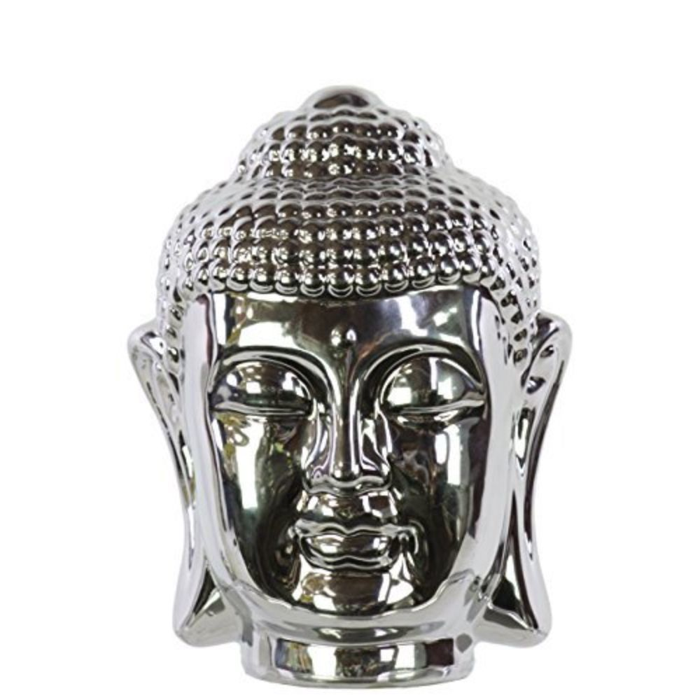 Ceramic Buddha Head With Rounded Ushnisha Polished