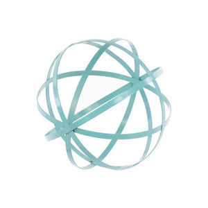 Appealing Large Cyan Metal Orb Dyson Sphere Design Decor