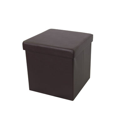 Brown Foldable Storage Ottoman by Urban Port