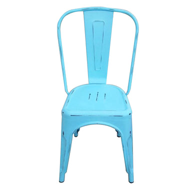 Tolix Blue Steel Chair by Urban Port- Set of 2 Chairs