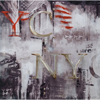 Abstract Styled NY Oil Painting by Urban Port