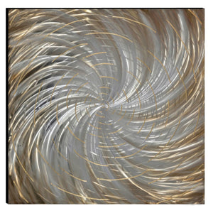 Cosmic Hand Painted Aluminum Wood Wall Art Decor by Urban Port
