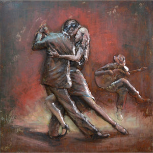 Tango Dancing Couple Wall Decor in Iron by Urban Port