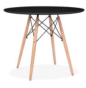 "Circular Dining Table Black 47"" Top"