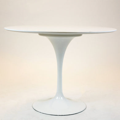 Circular Dining Table White Wire Legs 47