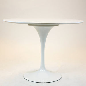 "Circular Dining Table White Wire Legs 47"" Top"