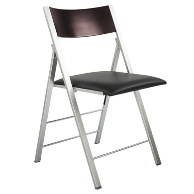 Space Saving Modern Folding Chair with Cushion (Set of 2)