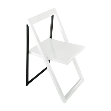 High Contrast Glossy Folding Chair (Set of 2)