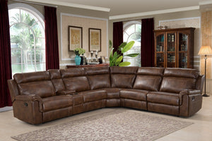Clark 6 Piece Brown Reclining Living Room Sectional