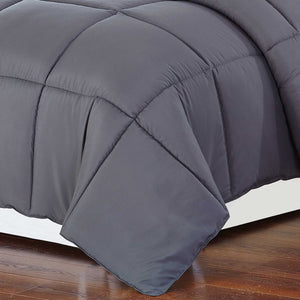 Luxry Cozy Soft Square Quilted Throw Blanket and Back Fleece, Navy Blue