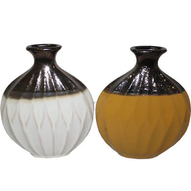 Designer Ceramic Vase-  2 Assorted