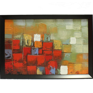Inventive Abstract Canvas Oil Painting