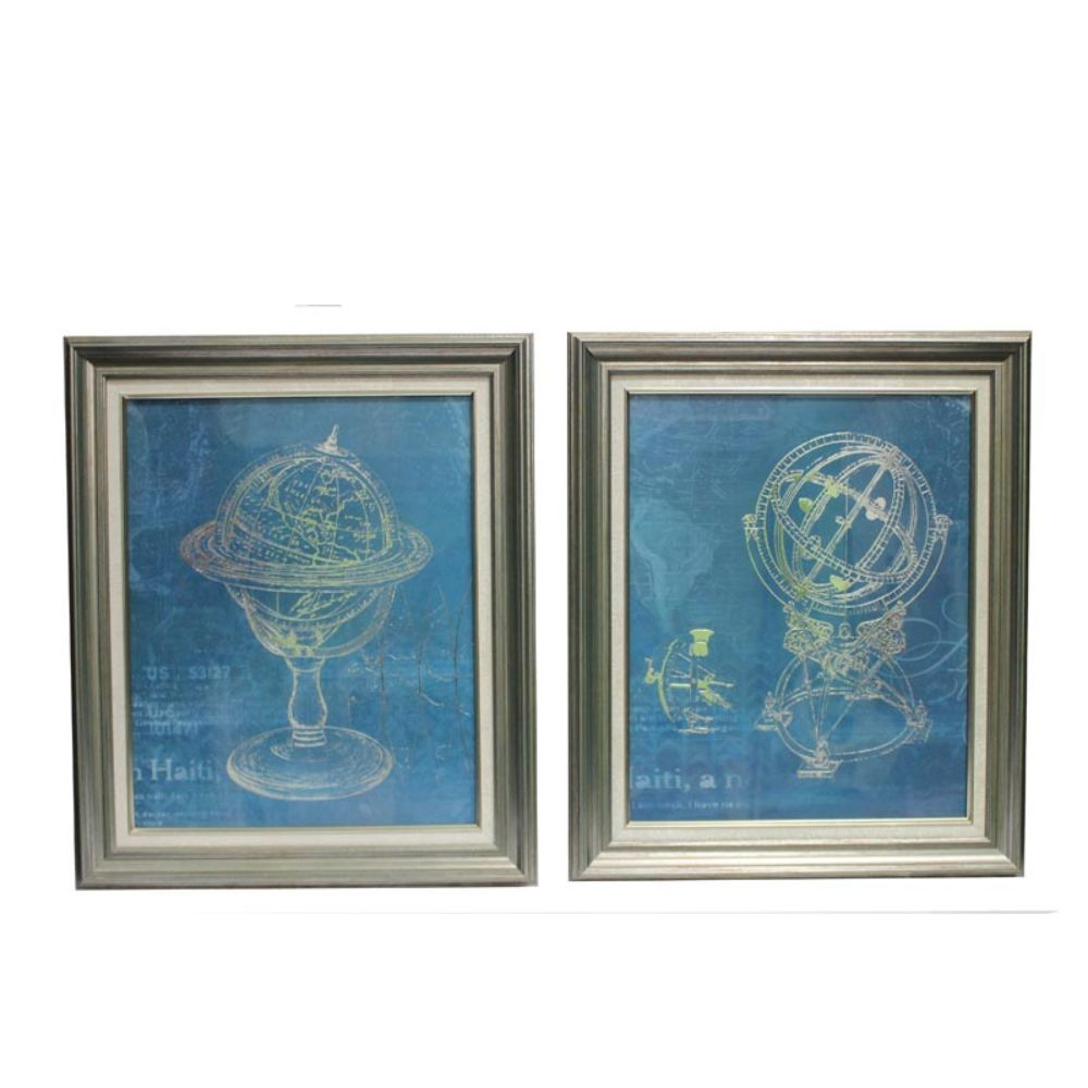 Astronomical Classic Wall Decor-Set of 2 - Benzara