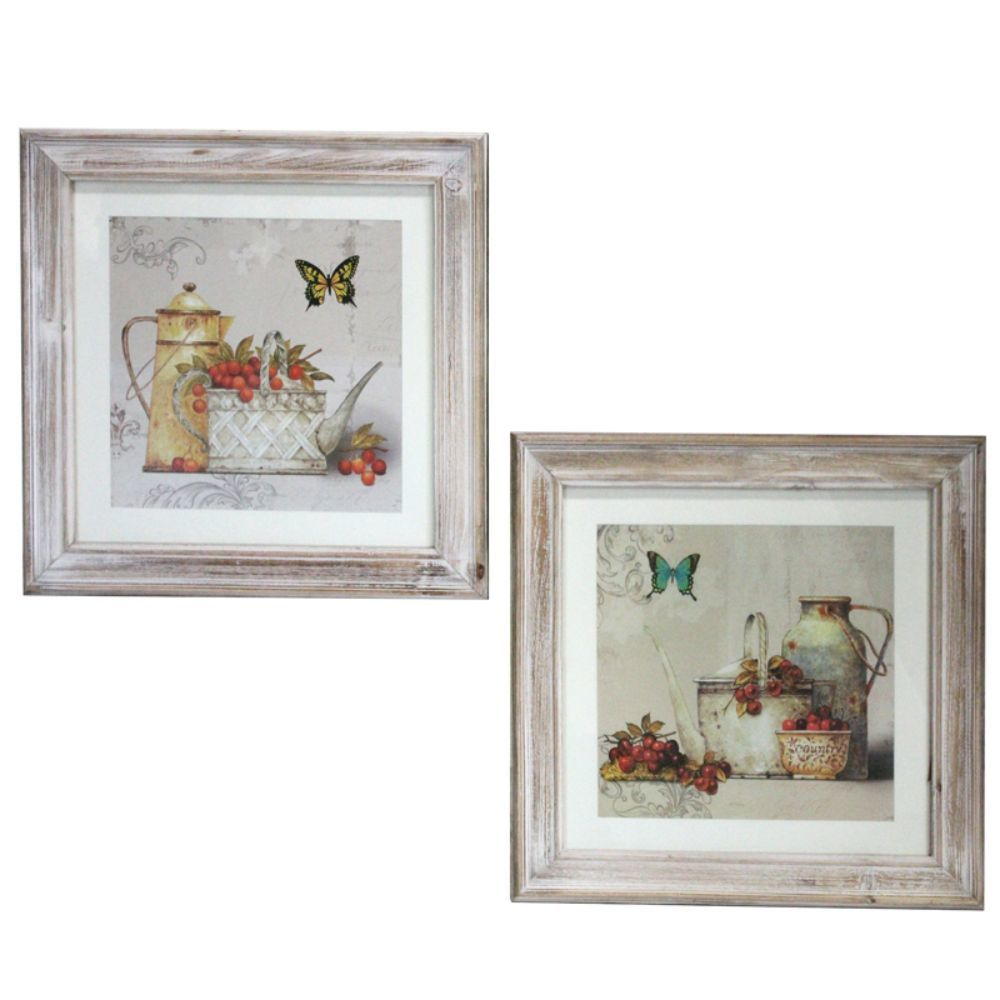 Enticing Wooden Wall decor, 2 Assorted - Benzara