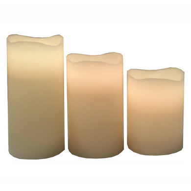 Trendy 3pc Led Candle-12 Changeable Colors - Benzara