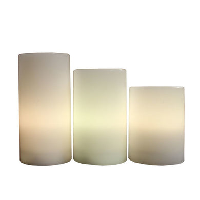 Attractive 3pc Led Candle- 12 Changeable Colors - Benzara