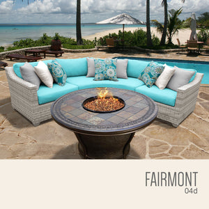 Fairmont 4 Piece Outdoor Wicker Patio Furniture Set 04d