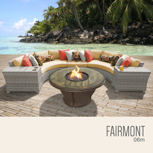 Fairmont 6 Piece Outdoor Wicker Patio Furniture Set 06m