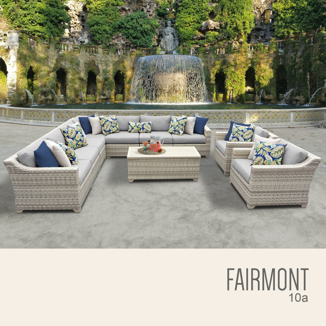Fairmont 10 Piece Outdoor Wicker Patio Furniture Set 10a