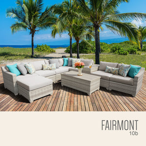 Fairmont 10 Piece Outdoor Wicker Patio Furniture Set 10b