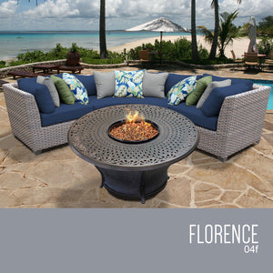 Florence 4 Piece Outdoor Wicker Patio Furniture Set 04f