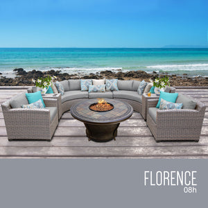 Florence 8 Piece Outdoor Wicker Patio Furniture Set 08h