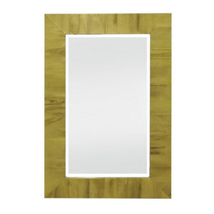 Wood Bevelled Mirror, Golden