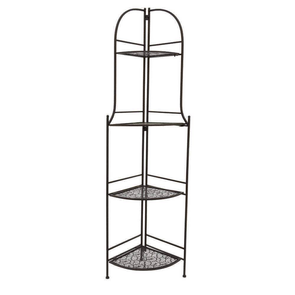 Metal Corner Rack, Black