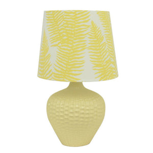 Porcelain And Ceramic Table Lamp, Yellow