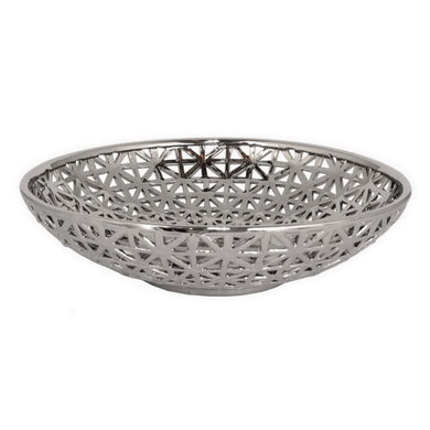 Impressive Plated Ceramic Pierced Bowl
