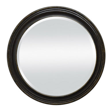 Wood Wall Mirror, Black
