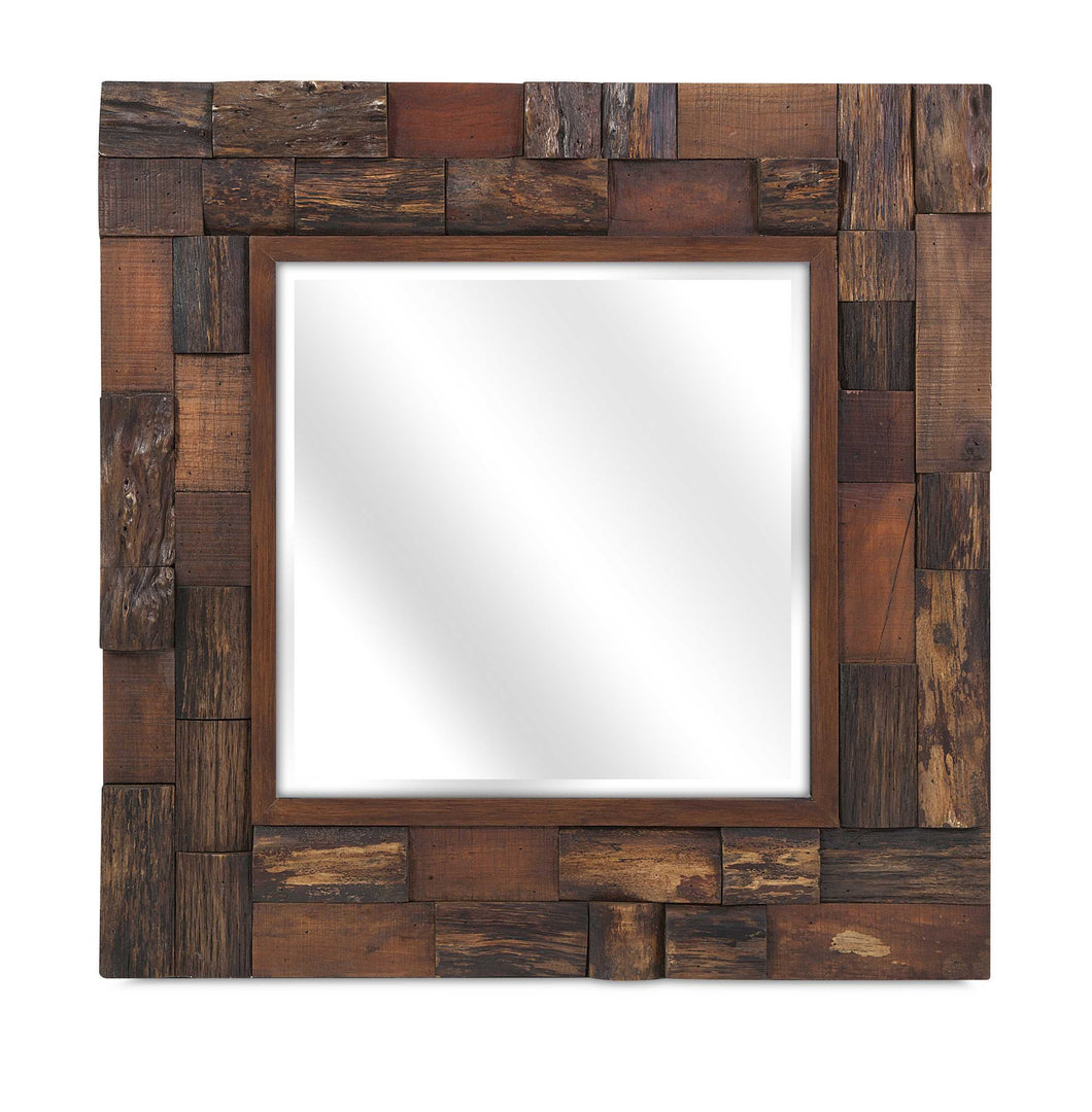 Customary Styled Lloyd Wood Slat Mirror
