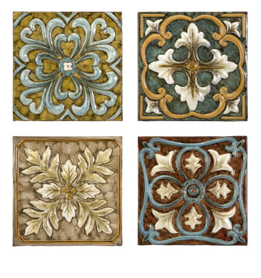 Elegant Casa Medallion Tiles - Set of 4
