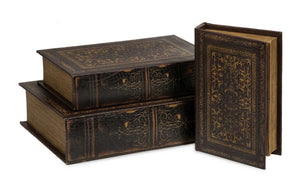 Timeless Set of 3 Old World Book Box Collection
